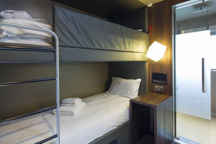 Twin Bunk (no window), Bloc Hotel Gatwick Airport