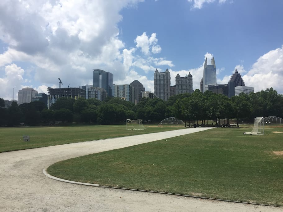 Midtown Atlanta from the active oval 15 min walk away