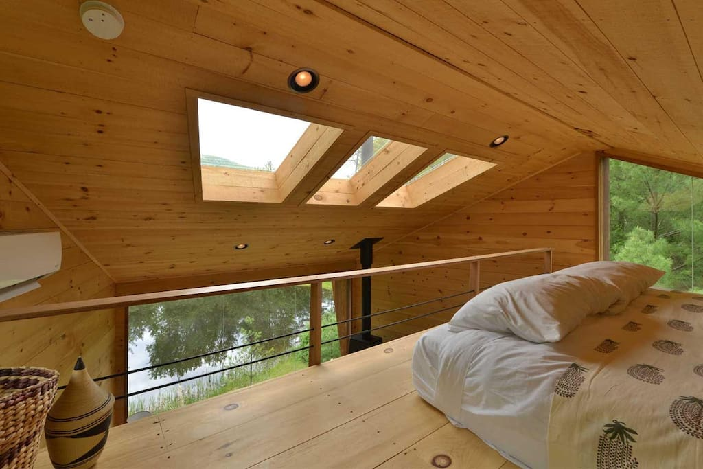 You will be surrounded by trees and natural light from all sides