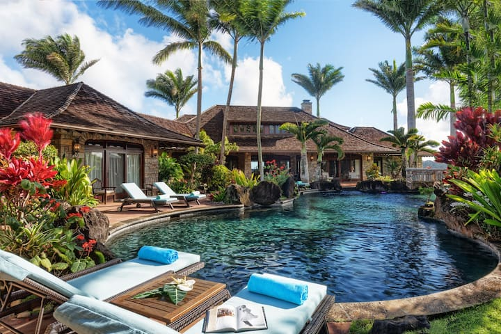 Anini Vista Luxury Estate. Pool, Hot Tub,  A/C!