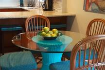 Tropical, Aloha style, spacious eat-in kitchen/dining area