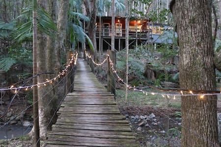 Secluded Magical Rainforest Retreat - Main Arm - กระท่อม