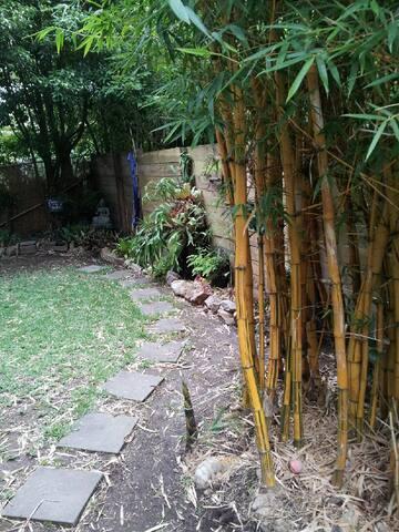 Private garden area.