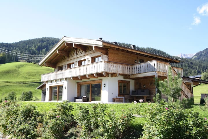 Ultra luxury chalet with sauna and views across the piste