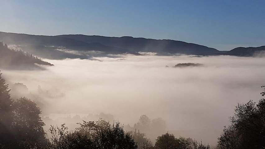 Foggy landscapes are usually happening between September and November