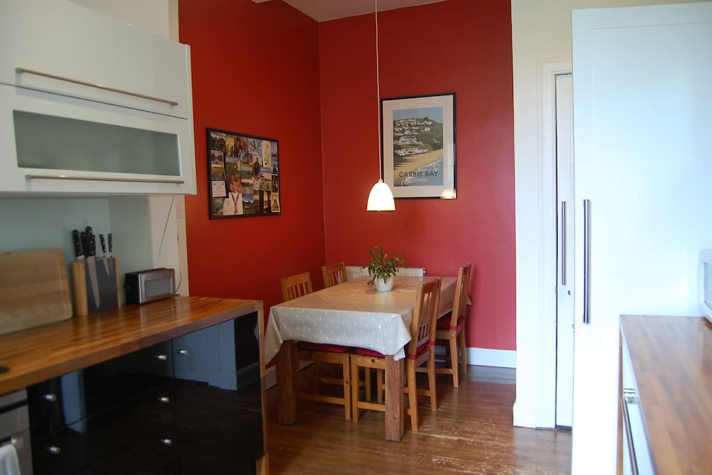 Dining alcove in kitchen