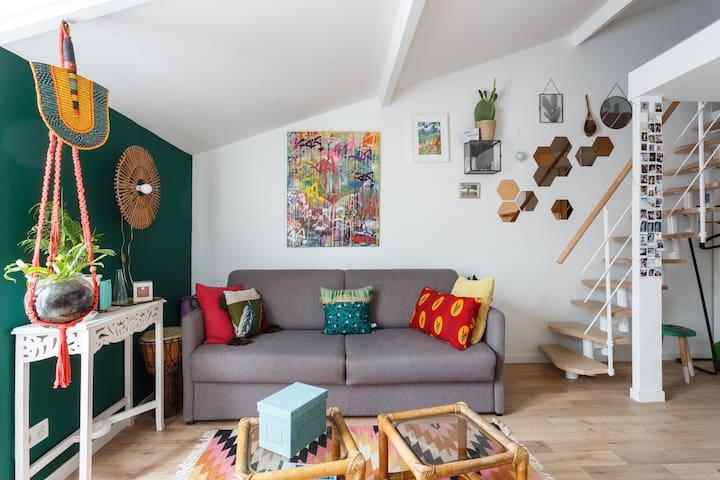 Appartement/Terrasse au cœur des Puces de St Ouen
