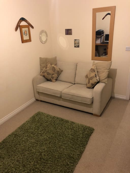 Spare room with sofa bed
