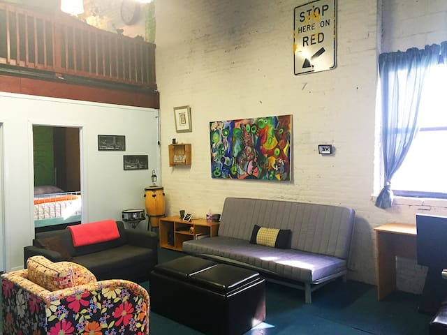 Private room is located directly off the shared common space.