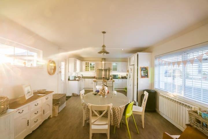 Superb family home with private beach access