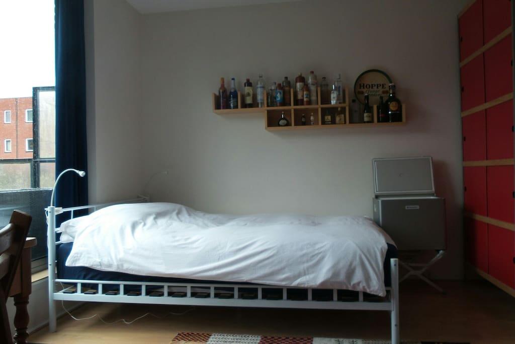 Een heerlijk comfortabel tweepersoonsbed