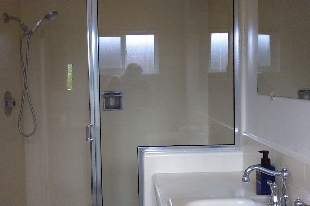 Private Bath in room with Large Shower