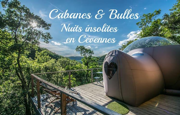 cabanes&bulles hebergements insolites en Cévennes - Mialet - Gästehaus