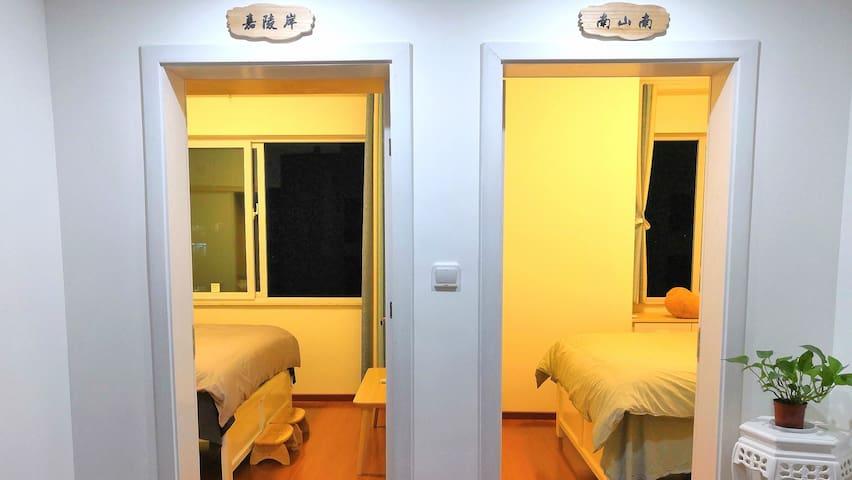 嘉陵岸,南山南 房间以重庆本土景观命名,让你沉睡在奇特的山城文化之中。