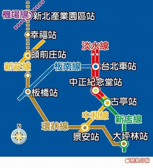 機場捷運 近錦安捷運站
