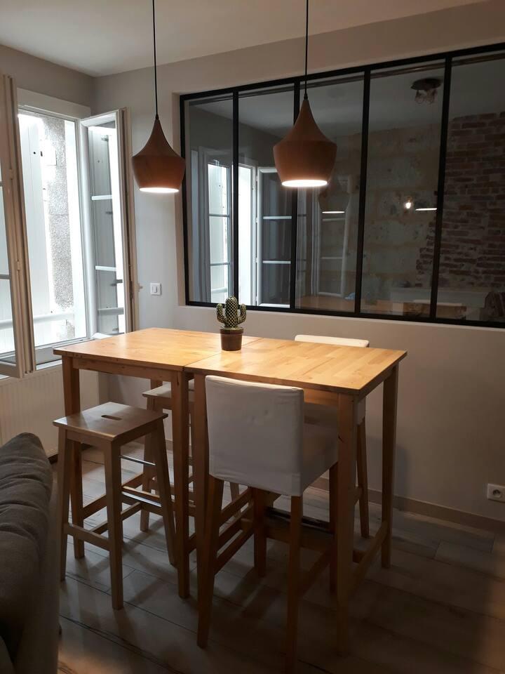 Appartement rénové, hyper centre Périgueux