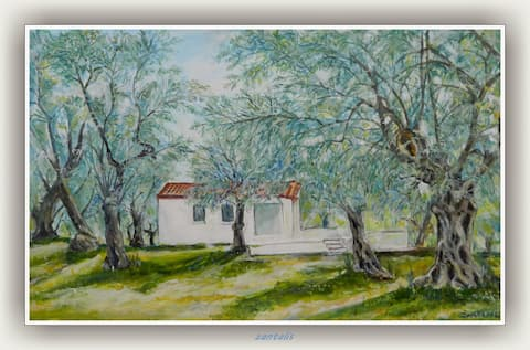 The little house in the olive grove
