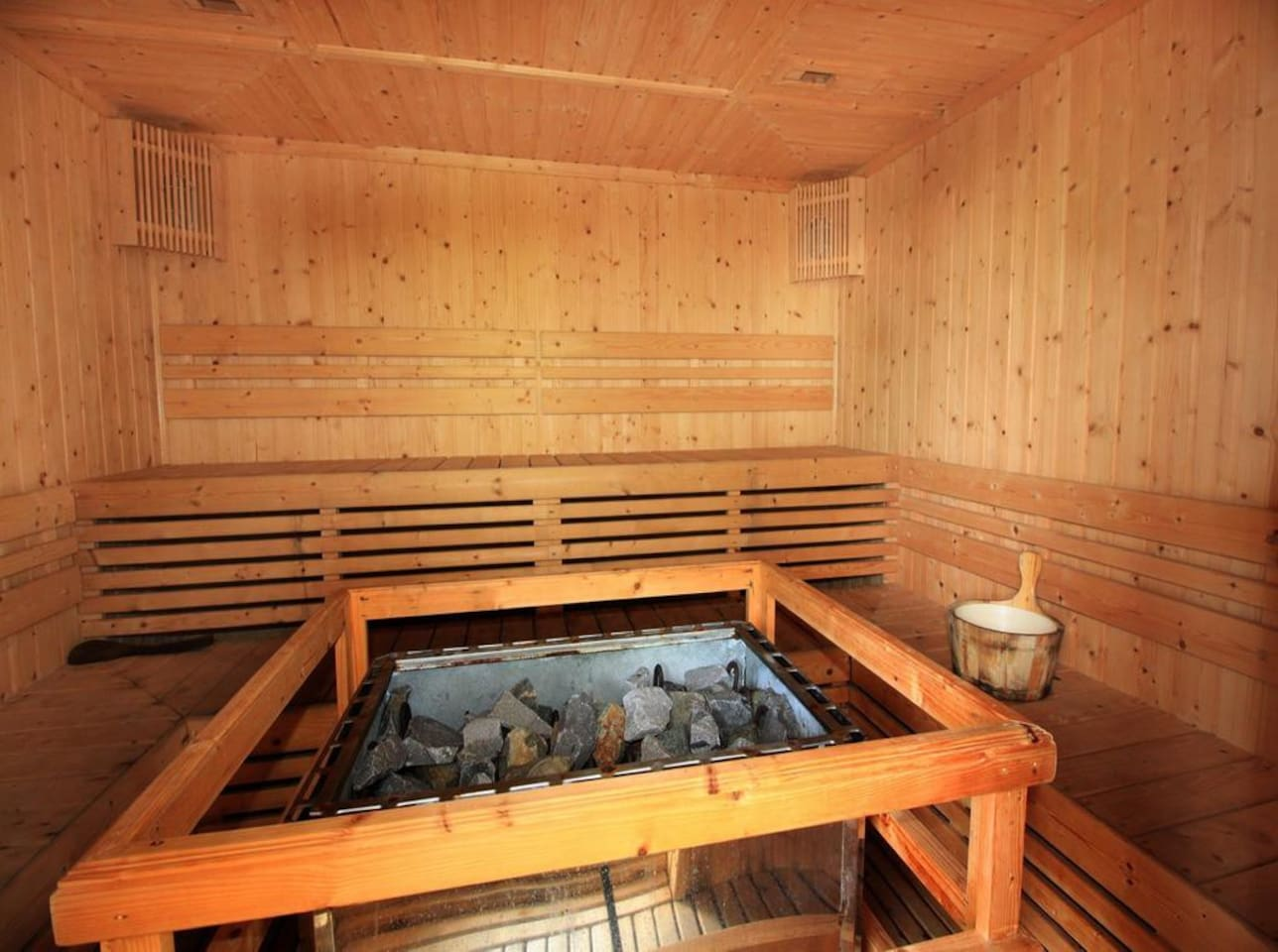 sauna near by the pool