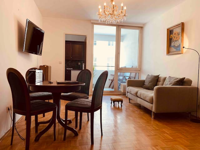 Two Balcony  Apartment  - 5 min to Belvedere