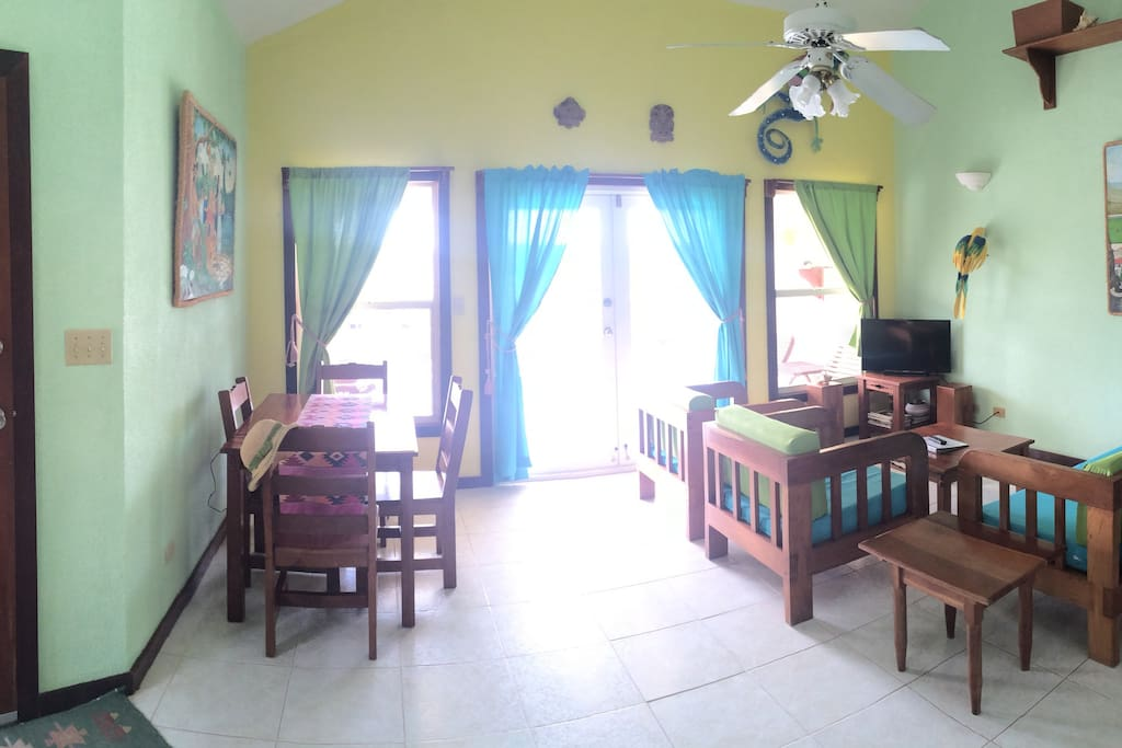 Living Room with door to the balcony