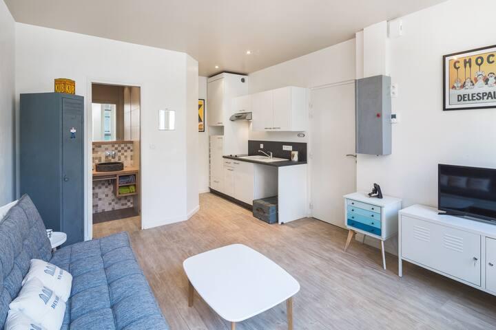Studio détente à Dinard, 200 mètres de la plage