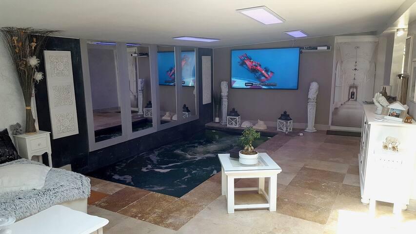 Chambre avec accès patio