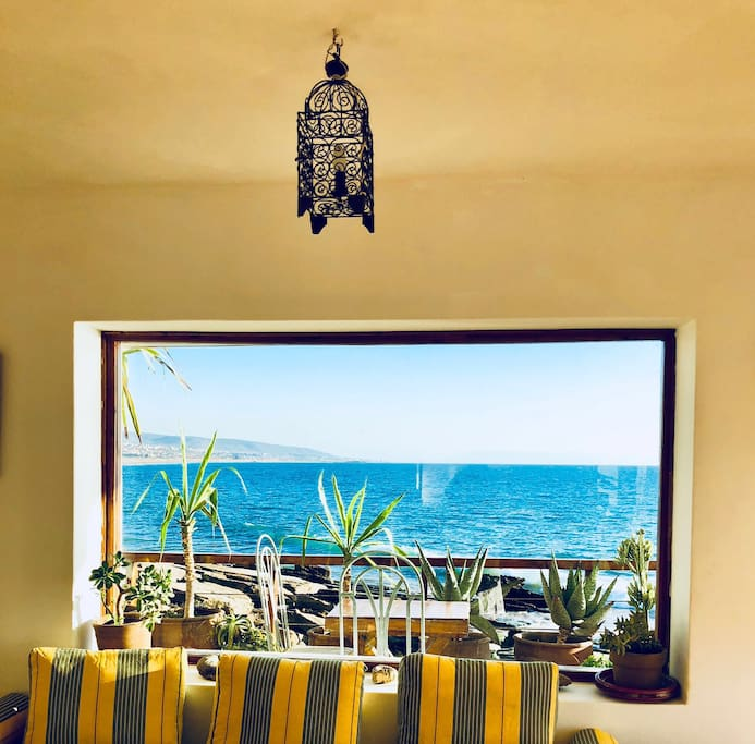 Living-room with view