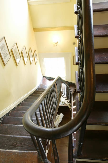 Stairway to the Owner's Suite.