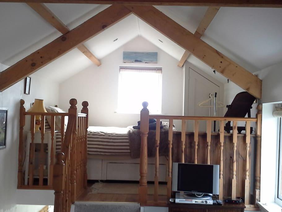 Mezzanine bedroom area