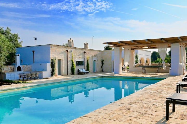 Casolare degli Ulivi, OSTUNI; Villa w heated pool