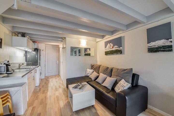 Un chaleureux appartement avec vue mer à Carnac