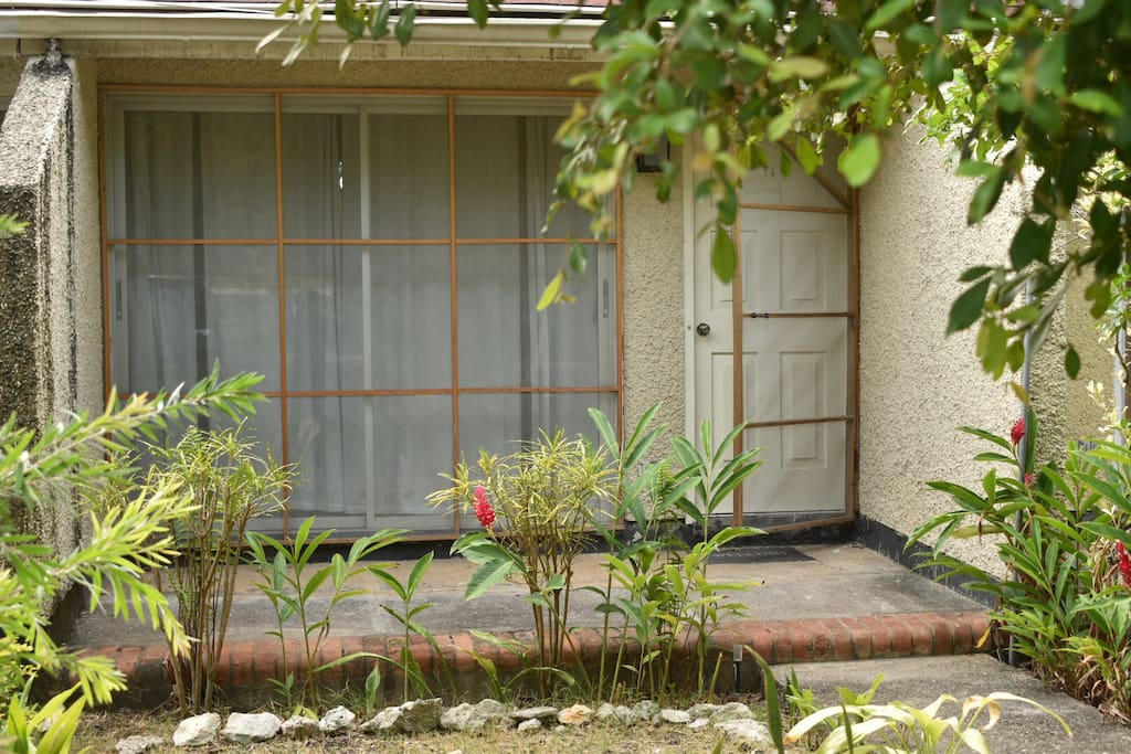Screened Mesh doors for extra comfort on exterior of entrance