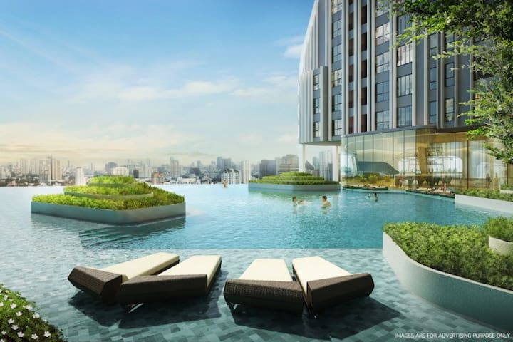 Brand New,Near Subway Center Bangkok,Pool,wifi - Bangkok