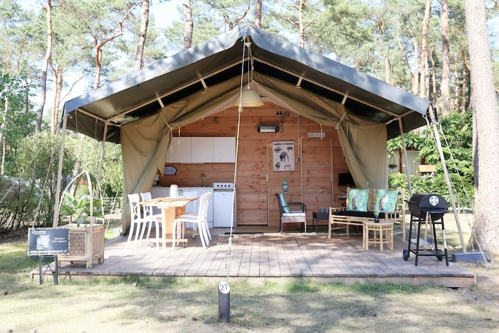Glamping in luxe Safaritent op de Veluwe