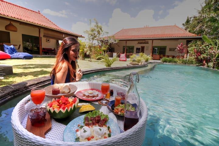 """75% OFF"" Jungle & Rice field View Villa Indijo"
