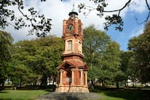 The historic Clock Tower, Preston Park. With great views of the rest of the park!