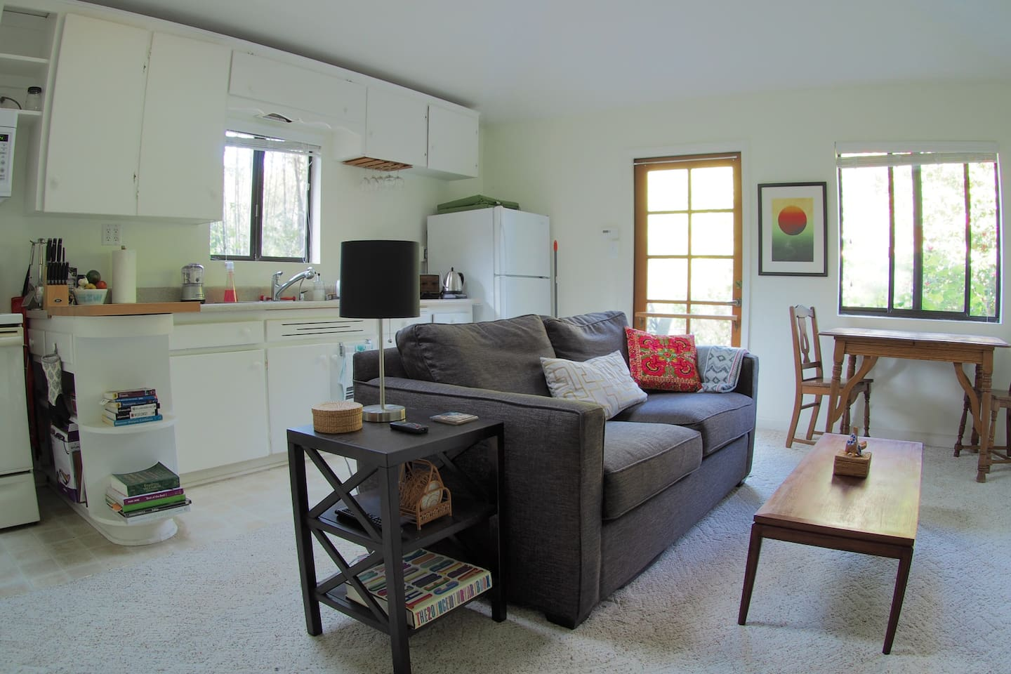 Your clean PRIVATE Living area and kitchen