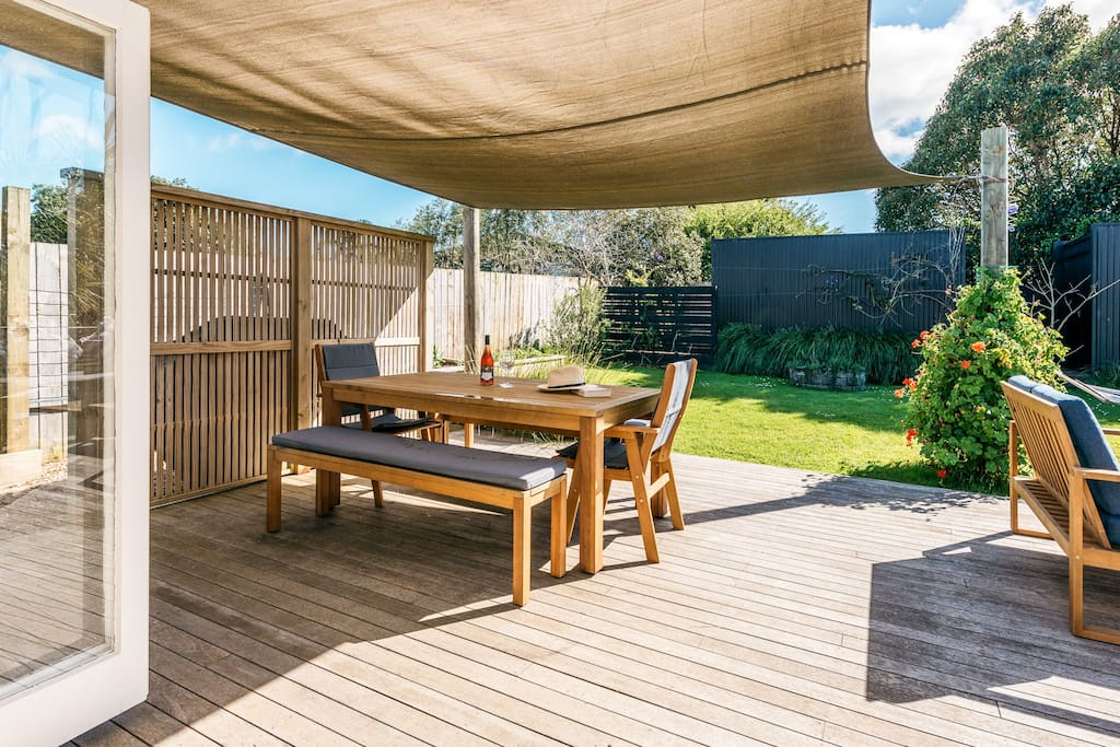 Shaded deck
