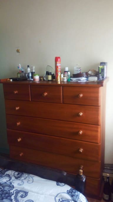 chest of drawers in bedroom