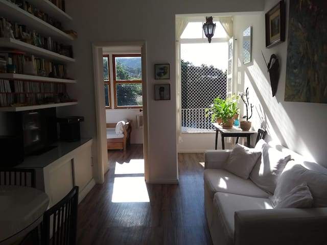 Family friendly flat in charming green valley