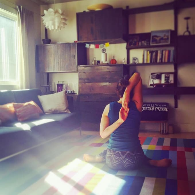 Bright space for your yoga practice