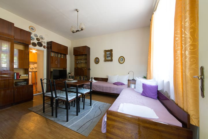 Spacious apartment 5 minutes away from the beach