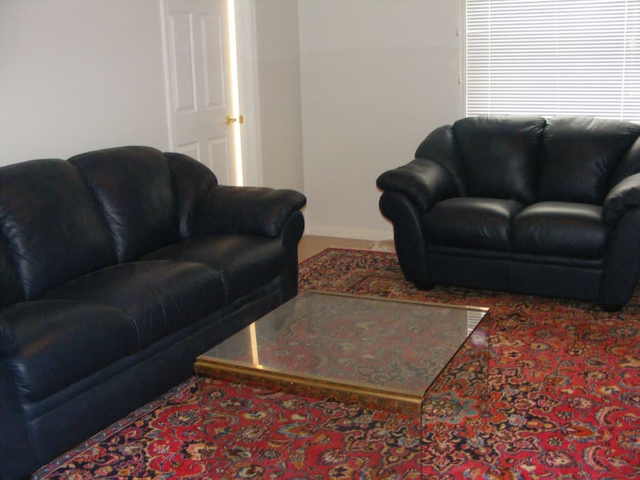 Living room with Persian carpet and  Nutizzi couches