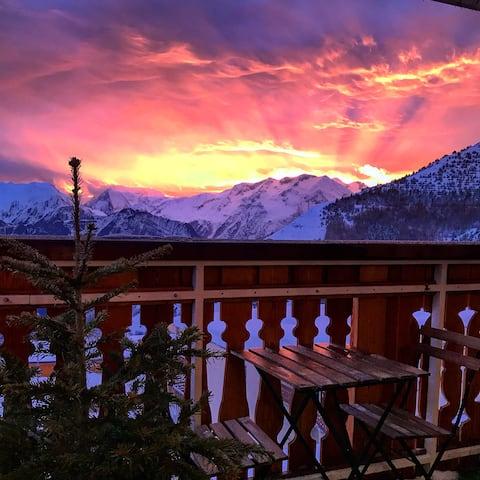 Appartement skis aux pieds / balcon plein sud!