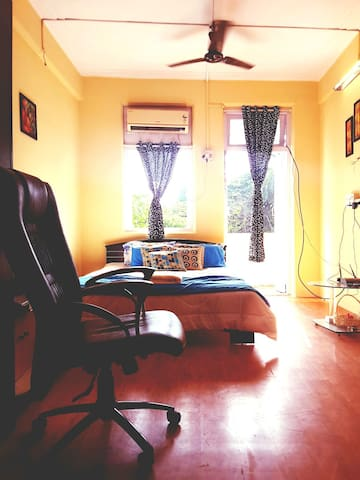 Specious Ac Room + Balcony + Garden View