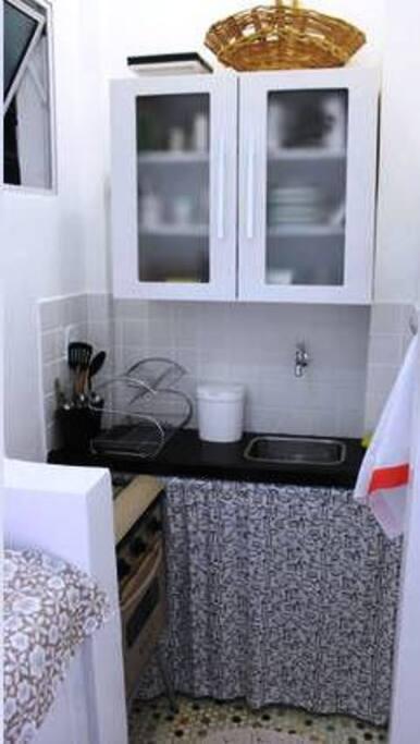 Cozinha completa e arejada