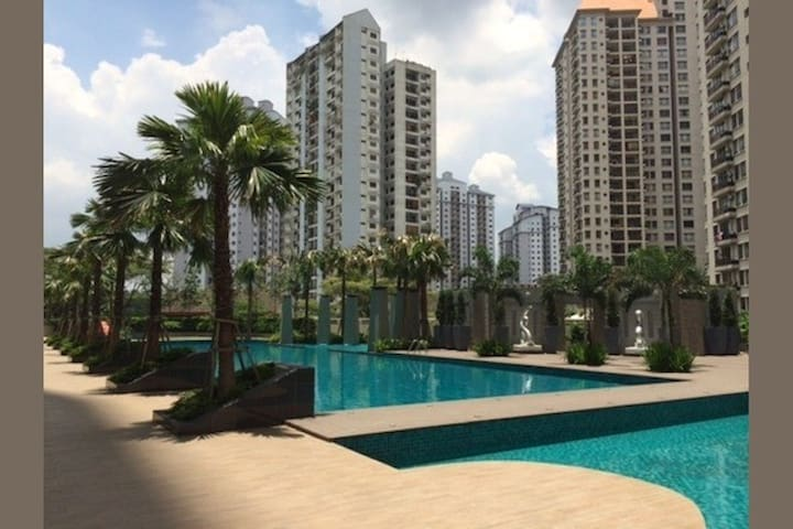 Luxury condo in KL city & view of KLCC