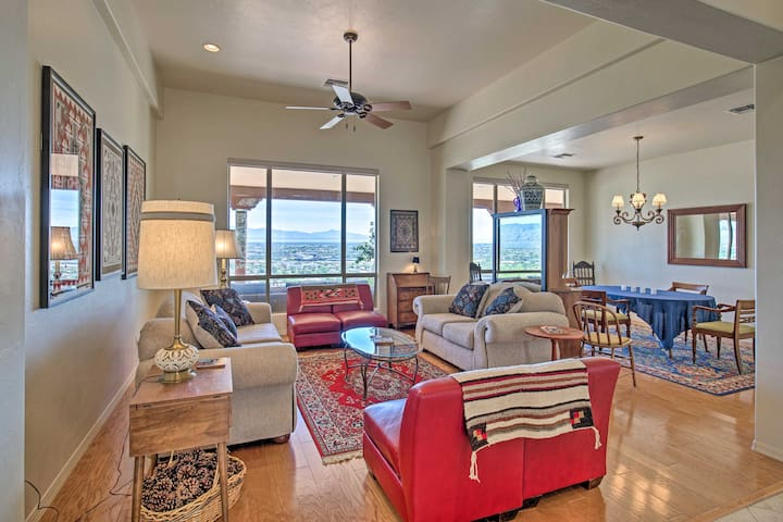 The 3,500-square-foot living space boasts several living areas.