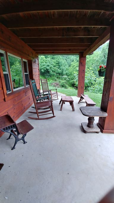 Front porch overlooking lake.