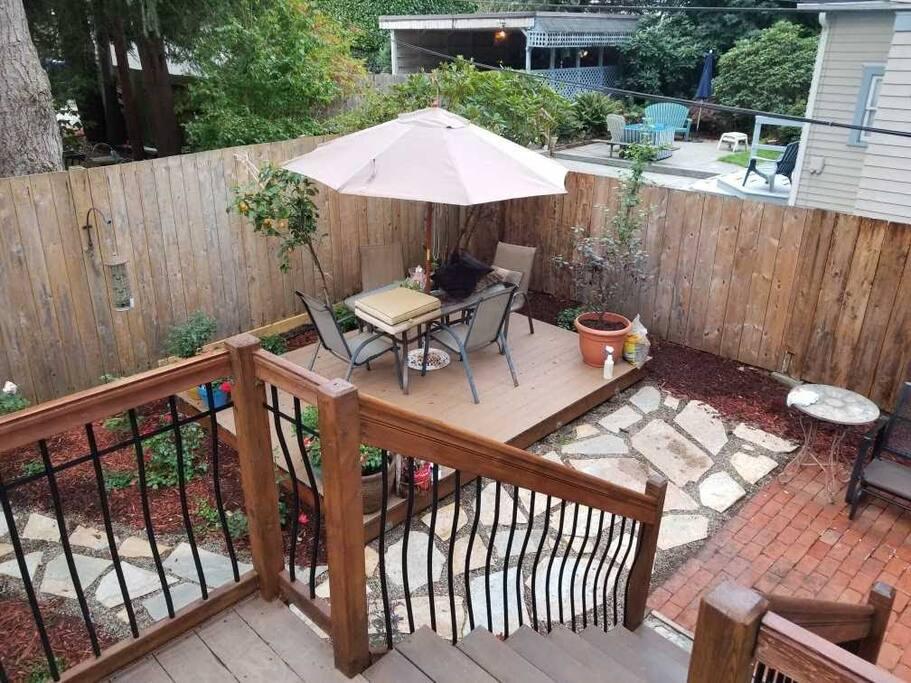 Back Yard - upper and lower decks